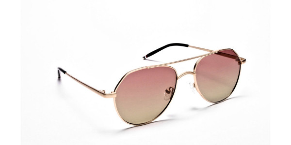 Gold & Red Sunglasses -1
