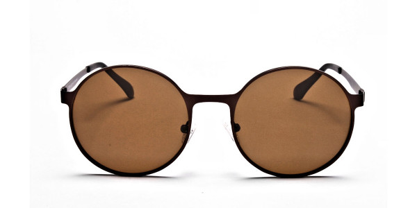 Brown Sunglasses in Round Online