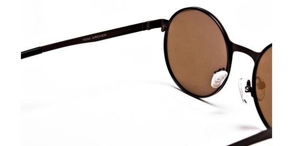 Brown Sunglasses in Round Online - 4