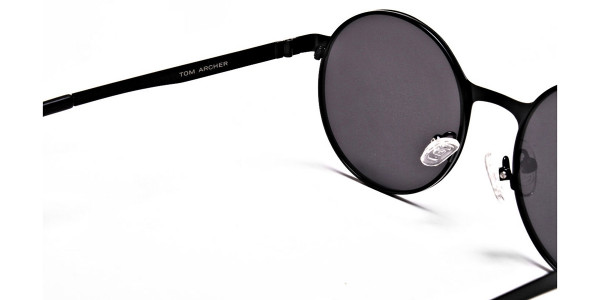 Grey Round Sunglasses - 4
