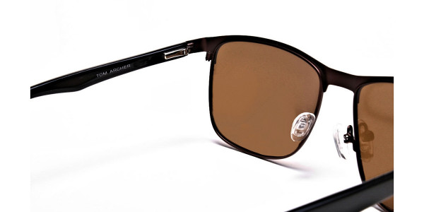 Brown Wayfarer Sunglasses - 4