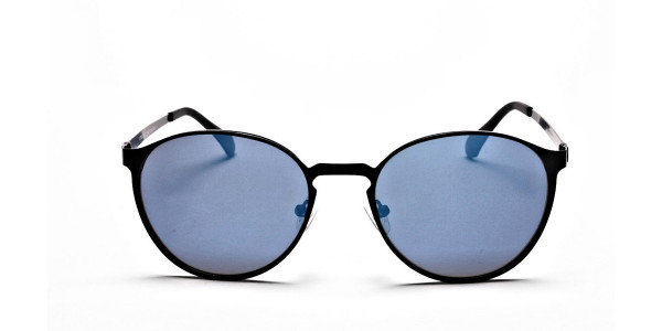 Retro Round Blue Sunglasses