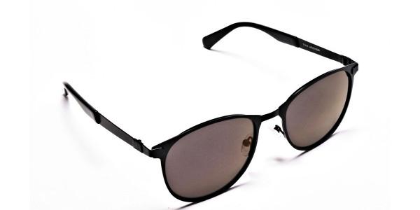 Dark Black Purple Sunglasses -1