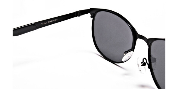 Dark Black Purple Sunglasses -4