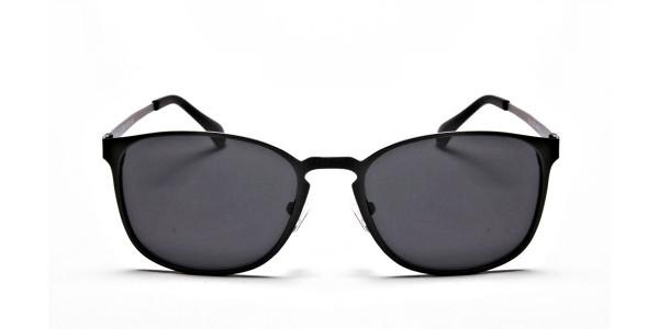 Gunmetal Grey Round Wayfarer Sunglasses