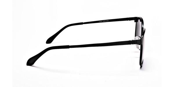 Gunmetal Grey Round Wayfarer Sunglasses - 3
