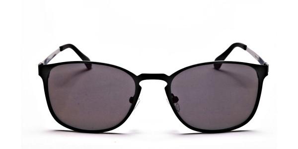 Purple and Brown Round Sunglasses