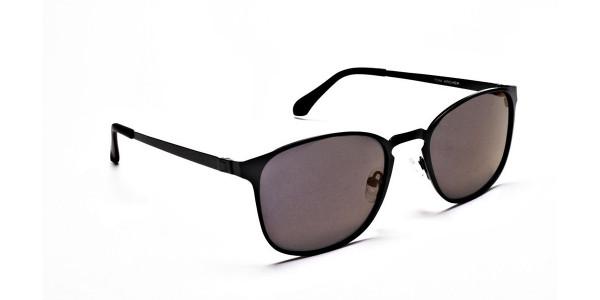 Purple and Brown Round Sunglasses - 1