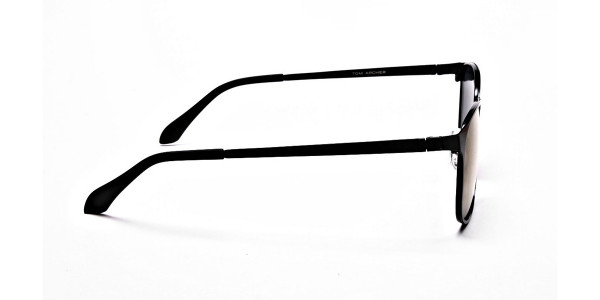 Purple and Brown Round Sunglasses - 3