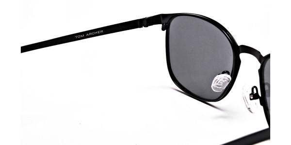 Purple and Brown Round Sunglasses - 4