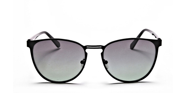 Black Green Tint Sunglasses -1