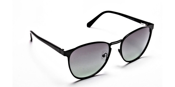 Black Green Tint Sunglasses -2