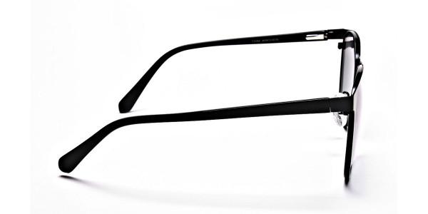 Black Green Tint Sunglasses -4