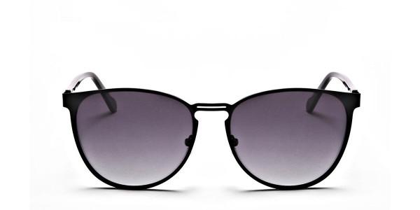 Black Circular Sunglasses-1