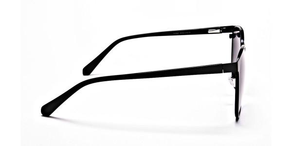 Black Circular Sunglasses-4