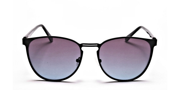 Black Round Sunglasses-1