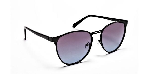 Black Round Sunglasses-2