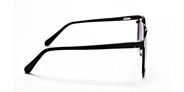 Black Round Sunglasses-5