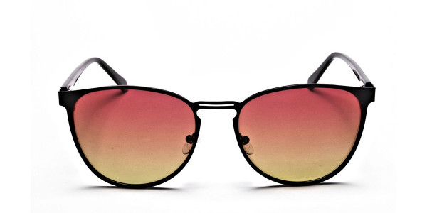 Red Yellow Gradient Sunglasses - 1