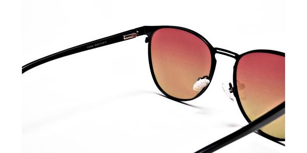 Red Yellow Gradient Sunglasses-5