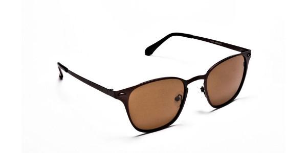 Brown Round Sunglasses- 1