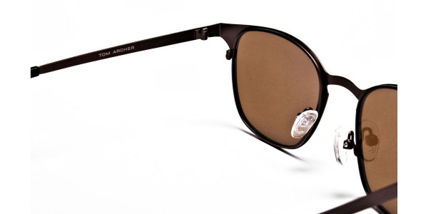Brown Round Sunglasses- 4