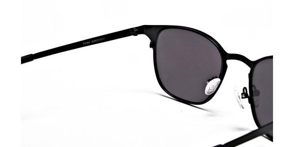 Black Round Sunglasses Online - 4
