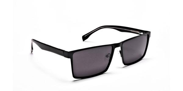 Black Wayfarer Sunglasses for Men and Women - 1