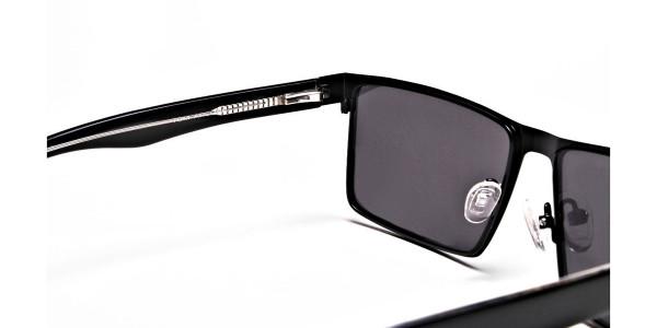 Black Wayfarer Sunglasses for Men and Women - 4