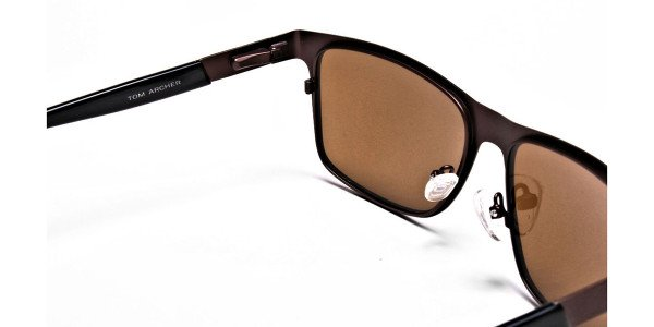 Brown Wayfarer Sunglasses for Men and Women - 4