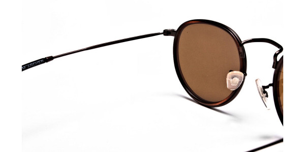 Fashion Brown Round Sunglasses - 4