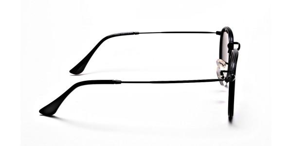 Blue Metal Round Sunglasses - 3