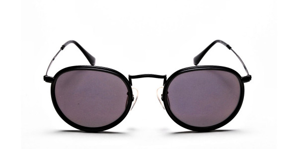 Purple Round Sunglasses for Men and Women