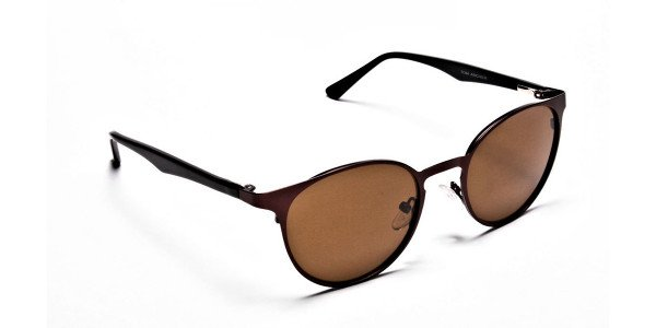 Dainty brown sunglasses -1