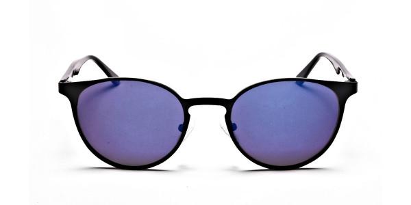 Sleek Black & Blue Sunglasses