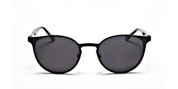 Black Retro Round Sunglasses