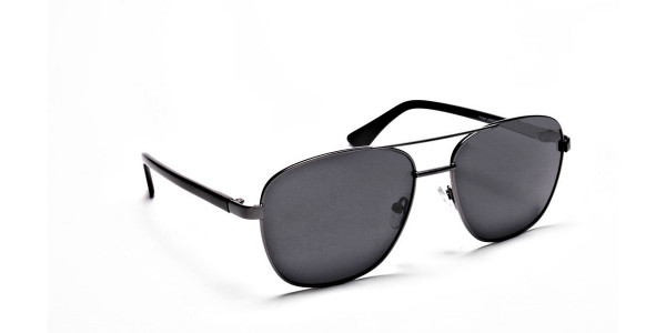 Gunmetal Framed Classic Sunglasses -2