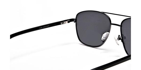 Gunmetal Framed Classic Sunglasses -5