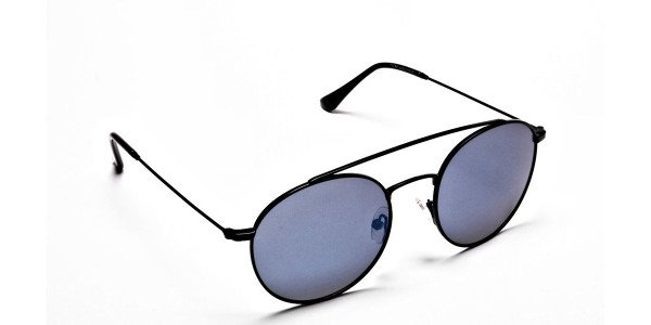 Blue Round Sunglasses Online - 1