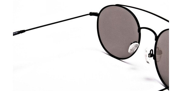 Blue Round Sunglasses Online - 4