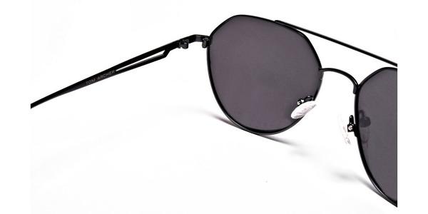 Classic Gunmetal Grey Tinted Sunglasses -4