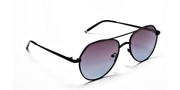 Blue & Black Sunglasses -1