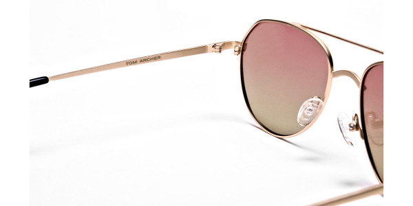 Gold & Red Sunglasses -4