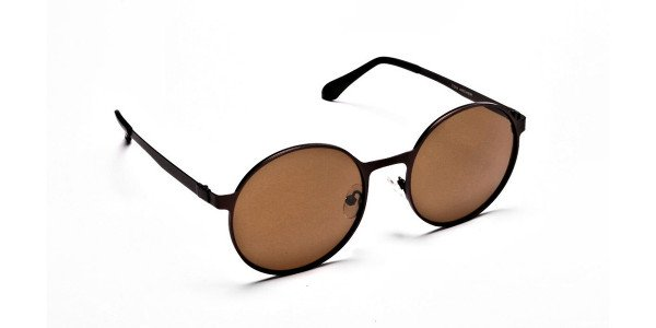 Brown Sunglasses in Round Online - 1