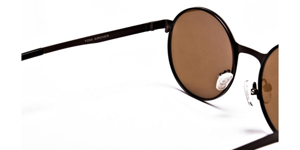 Brown Sunglasses in Round Online - 4