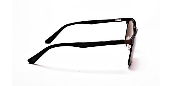 Brown Wayfarer Sunglasses - 3