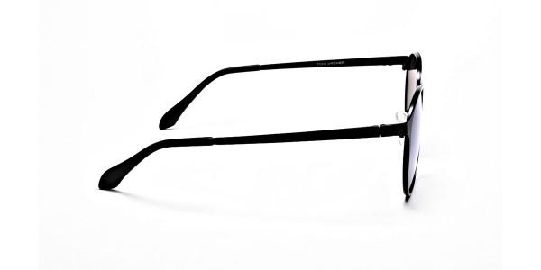 Retro Round Blue Sunglasses- 3