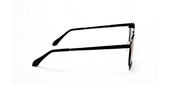 Black Purple Round Sunglasses - 3