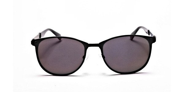 Dark Black Purple Sunglasses
