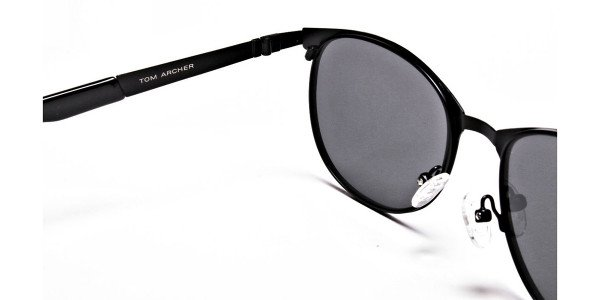 Dark Black Purple Sunglasses -4